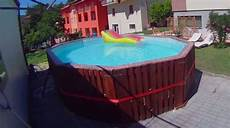 pool selber bauen aus paletten mit ma 223 geschneidertem
