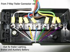 wiring diagram for junction box and or breakaway kit on a gooseneck trailer etrailer com