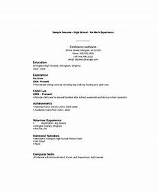 high school student resume with no work experience task