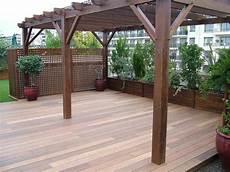 Pergola En Bois Pour Terrasse De Jardin Maison Parallele
