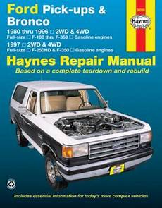 how to download repair manuals 1996 ford f350 auto manual 1980 1996 ford f100 f350 bronco 1997 f250hd f350 gas haynes manual
