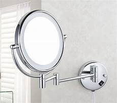 new bathroom wall mounted cosmetic magnified mirror makeup mirror with led light ebay