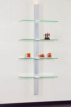 Wandregal Aus Glas - beleuchtetes glas wandregal mit 4 glasb 246 den
