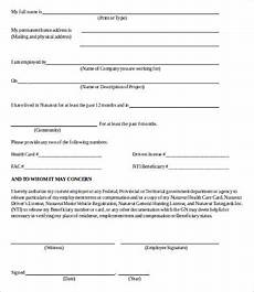 verification of employment form 9 free word pdf documents download free premium templates