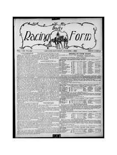 daily racing form n saturday october 4 1902 daily racing form free download borrow