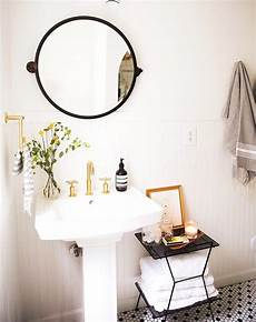 Bathroom Scale Storage Ideas by 10 Mega Chic Styling Ideas For Small Bathrooms Huffpost
