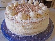 kokos raffaello torte mit nougat und marzipan