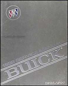 service manuals schematics 1992 buick skylark security system 1992 buick skylark repair shop manual original