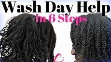 natural hair wash day in 6 steps detailed 4c hair wash day routine youtube