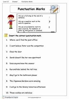 punctuation worksheets level 1 20823 punctuation marks worksheet treasure trove