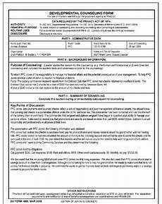 da form 4856 negative counseling exles blank da form 4856 initial counseling white gold