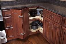 Alternatives To Kitchen Base Cabinets by Blind Corner With Susan Trays Woodland Cabinetry