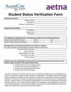 fillable online doa alaska student status verification form alaska department of