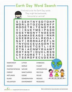 earth day word search worksheet education com