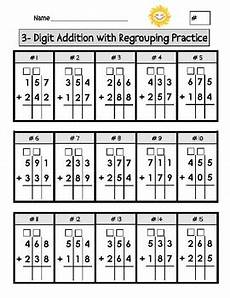 free addition worksheets with regrouping for second grade 9730 digit addition with regrouping worksheets 2nd grade math worksheets homeschool math
