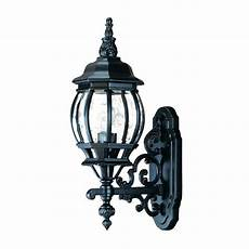 acclaim lighting chateau collection 1 light matte black outdoor wall light fixture 5150bk