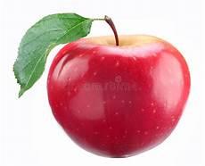 Malvorlage Apfel Mit Blatt Roter Apfel Mit Blatt Stockbild Bild Frucht