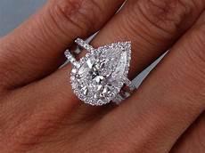 3 81 carats ct tw pear shape diamond engagement ring d si1 ebay