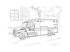 rescue vehicles coloring pages 16411 ambulance kleurplaat gratis kleurplaten printen