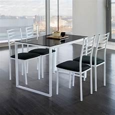 Conjunto Noa Mesa De Cocina 4 Sillas Cristal Muebles