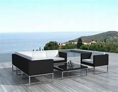 mobilier de jardin design de luxe salon de jardin d angle en r 233 sine tress 233 e