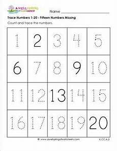 addition worksheets with pictures 8756 trace numbers 1 20 15 numbers missing number worksheets numbers kindergarten writing