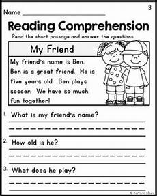 reading worksheets for kindergarten 20386 kindergarten reading comprehension passages set 1 freebie kindergarten grade