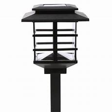 hton bay 10 light plastic black solar led garden light hd23873bk10 the home depot