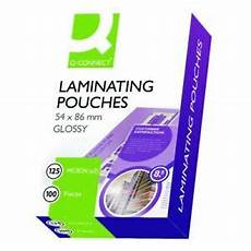 100 laminating pouches 54 86mm id business card 250 micron 163 2 95 ebay