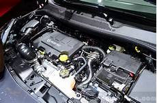 opel adam s engine bay at the 2014 motor show