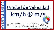Km To H by Conversi 243 N De Km H A M S M 233 Todo Facil