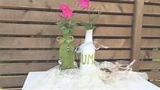 flaschenle selber machen blumen vasen selber machen upcycling aus altglas flaschen