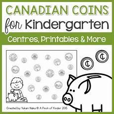 kindergarten canadian money worksheets printable 2718 canadian coins for kindergarten centres printables more tpt