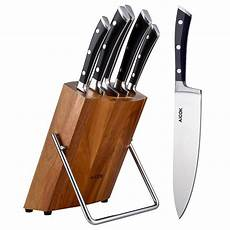 Review Aicok Professional Knife Block Set Wooden Block 6
