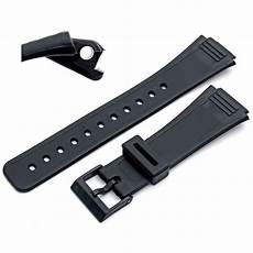 18mm Replacement Band Casio replacement band 18mm black resin to fit casio