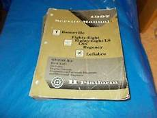 service and repair manuals 1995 pontiac bonneville regenerative braking 1997 pontiac bonneville olds 88 98 buick lesabre park avenue 2 service manual ebay