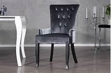 stuhl sessel dimension grau strass samt look barock design