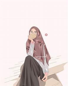 Foto Kartun Wanita Muslimah Sedih Kata Romantis