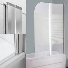Duschwand Glas Badewanne - glas badewannen duschabtrennung satiniert streifen