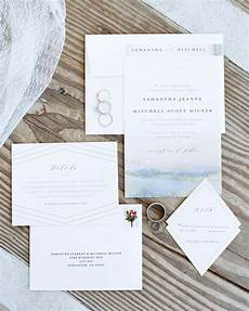 wedding invitations that the mood for a seaside celebration martha stewart weddings