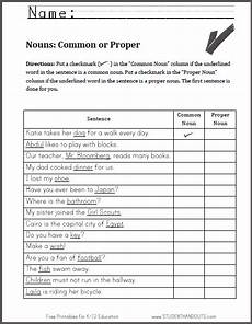 nouns common or proper worksheet ccss for first grade common proper nouns proper nouns