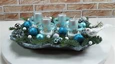 weihnachtsdeko basteln adventskranz adventsgesteck