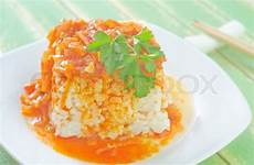 Reis Mit Soße - reis mit so 223 e stockfoto colourbox