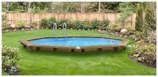 piscine bois octogonale semi enterrée woodfirst original kit piscine bois 562 x 133 cm