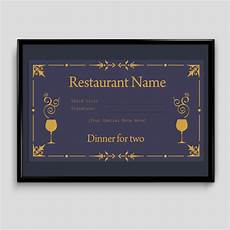 Dinner Gift Card Template Gift Certificate Template 6 Fillable Certificate