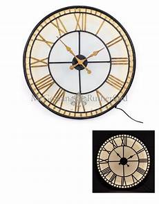 black and gold back lit glass quot westminster quot wall clock