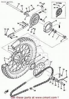 1975 yamaha dt 125 wire schematic yamaha dt125 1975 usa rear wheel schematic partsfiche