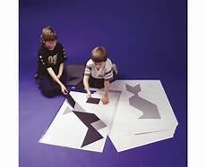 Tangram Kinder Malvorlagen Xl Riesen Tangram Teile Aus Kunststoff Schwarz In Box