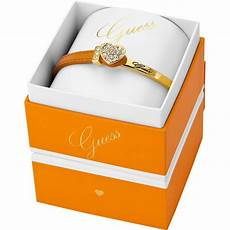 bracelet strass cuir orange guess bijoux guess