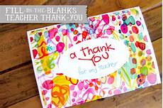 Thanksgiving Note Card For Teachers Template by Fill In Thank You Free Printable
